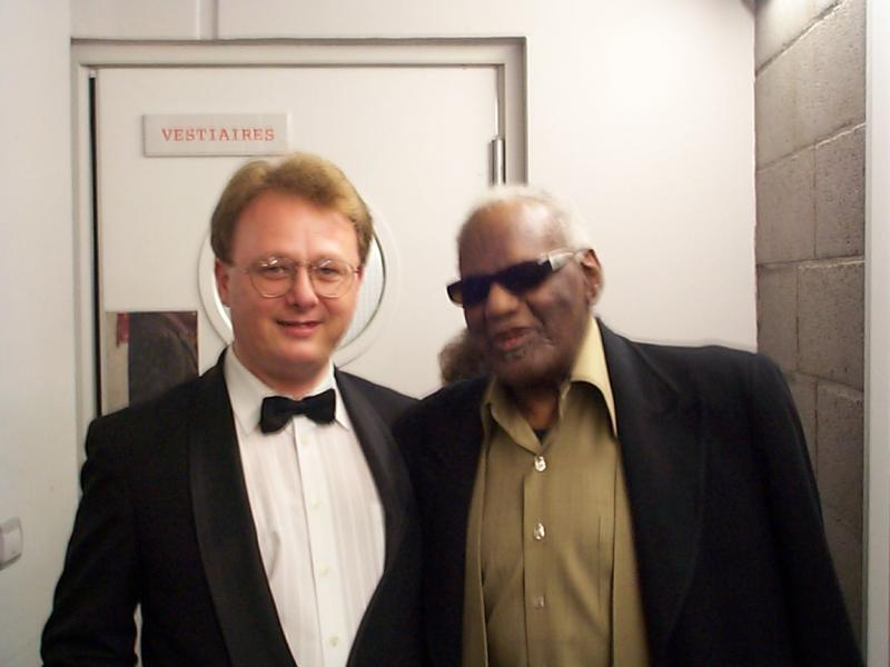 Me with Mr. Ray Charles, my boss for most of the 1990's. He was the ultimate.